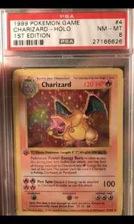 Pokemon card Psa 8 charizard