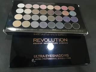 Revolution MakeUp Ultra Eyeshadows