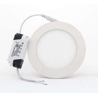 6W LED Flat Panel Downlight 1 yr warranty Round or Square ( White / Warm White )