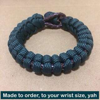 Paracord-Leather Combo Bracelet (550 paracord550 & genuine leather cord) [uncle anthony]  FOR MORE PICS & DETAILS, 👉 http://carousell.com/p/160173073