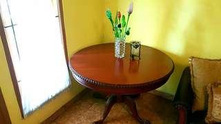 Meja asli kayu mahoni