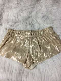 Gold sequenced shorts