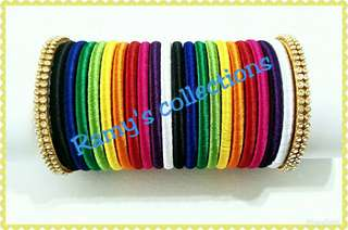 Rainbow Bangles in stunning colours