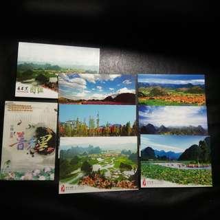 Postcards Collection: 中国云南普者黑景区