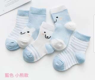 🚚 藍色小熊 嬰幼兒襪子