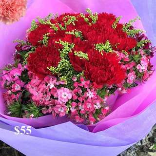 Fresh Carnations Bouquet for Mother's Day
