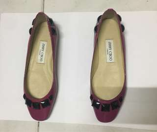 Jimmy Choo Patent Leather Magenta Flats