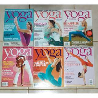 Yoga Journal magazines from 2012