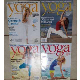 Yoga Journal issues from 2013