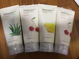 Faceshop nature series cleansing face wash!