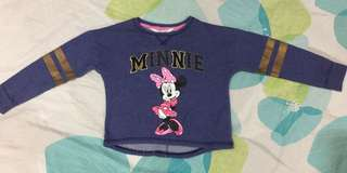 H&M Minnie Sweatshirt Size US2-4Y
