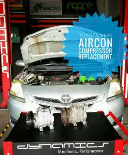 Toyota Vios : AirCon Compressor Replacement