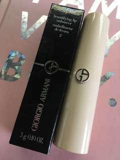 🚚 Giorgio Armani 奢華訂製裸粉護唇膏 2 喀什米爾粉紅