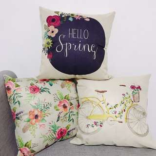 Spring Cushion Cover (sold as set)
