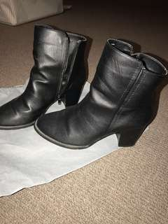 New Look black zipper boots