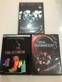 Final destination DVD part 123 code 1