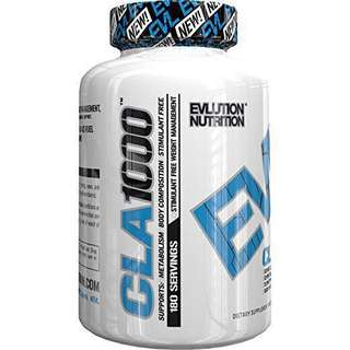 NEW🔥EVLUTION NUTRITION CLA 1000 180 SERVINGS
