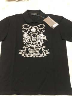 Alexander McQueen Embroidered Skull Polo