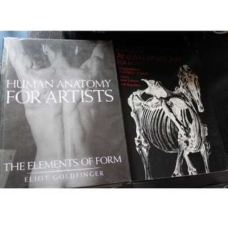 Animal anatomy and human anatomy for artists physical book