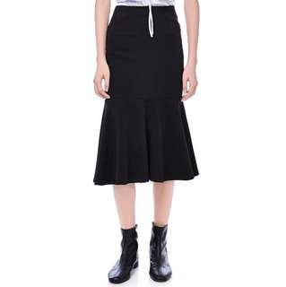 RTP$39 TEM Ruffles Mermaid Skirt in Black