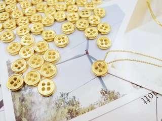 3D硬金鈕扣連18金項鍊