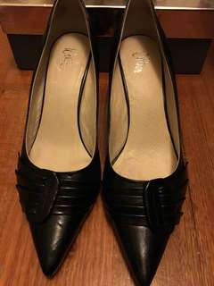 Black leather heels - Wittner