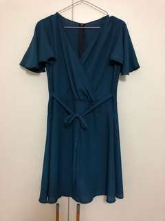 Navy Blue Dress with back zip