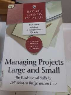 Book - Managing Projects Large and Small (Harvard Business School Press)
