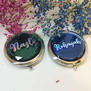 Personalised compact mirror | pocket makeup mirror