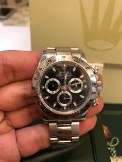 新淨尾期Rolex 116520黑地fullset3閃籃光
