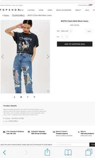 TOPSHOP HIGH WAISTED JEANS BNWT