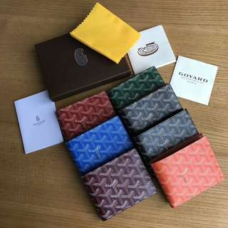 Goyard genuine leather wallet 真牛皮銀包