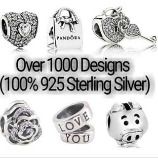 Over 1000 Designs (925 Sterling Silver Charms) To Choose From, Compatible With Pandora, T07