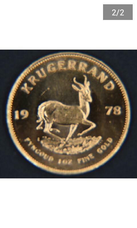 1978 Krugerrand 1 Oz Gold Coin