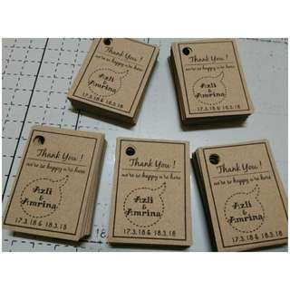 Craft paper tag mini 100pcs