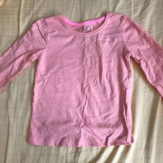 Organic cotton Long sleeve pink top