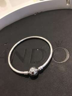 Authentic Pandora Bangle Size 19