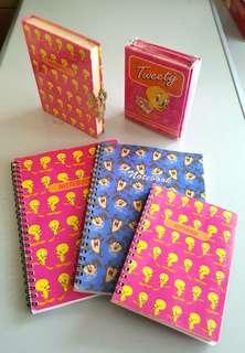 Tweety Birds note books/diary