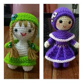 Crochet Dolls And Keychain