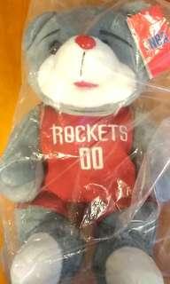 NBA 火箭 houston rockets 吉祥物 熊仔