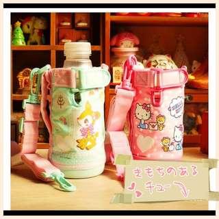 💯%日本正貨Sanrio 小鹿班比Hello Kitty斜咩水壺套