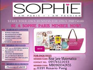 Sophie Paris Membership