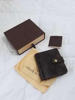 Authentic Louis Vuitton Zipper Wallet