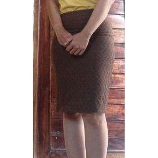 REPOST - Brown Mini Skirt