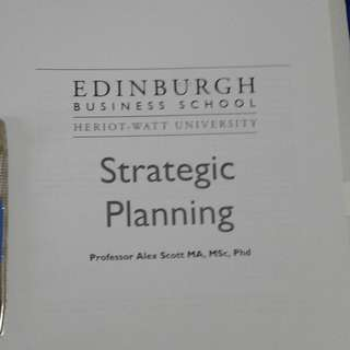 Strategic Planning MBA