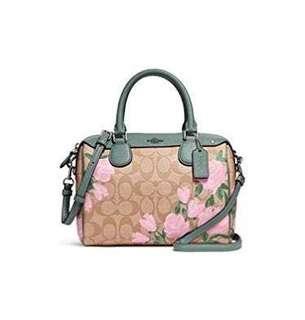 Coach mini bennett satchel with mini camo rose floral print