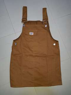 brown pinafore dress