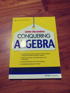 WTS Lower Secondary Conquering Algebra Assessment Book