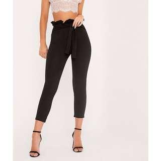 Pretty Little Thing Perlita Black Skinny Pants