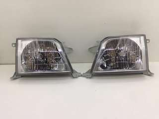 Toyota Prado FJ90 Fj95 KZJ90 KZJ95 Front Headlights Lamps 1 Pair Left And Right